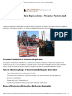 Geotechnical Subsurface Explorations - Purpose, Factors and Stages