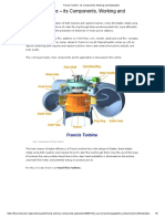 Francis Turbine - Its Components, Working and Application