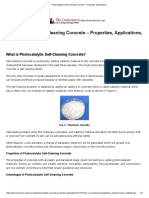 Photocatalytic Self-Cleaning Concrete - Properties, Applications