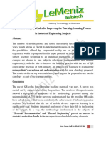 Experiences Using QR Codes for Improving the Teaching-Learning Process  in Industrial Engineering Subjects