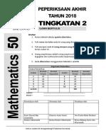 cover page Peperiksaan KSSM Matematik