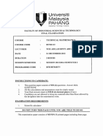 Bum1113-Technical Mathematics 11314
