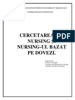 Cercetarea in Nursing Si Nursing-ul Bazat Pe Dovezi