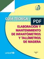 Guia Tecnica Elaboracion Mantenimiento Infantometros Tallimetros