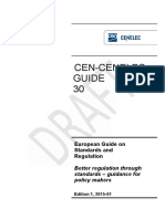 Guide on European Standards and Regulation