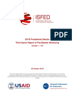 ISFED 3rd Pre-Election Interim Report - 2018 Presidential Election