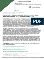 Pathophysiology of Short Bowel Syndrome - UpToDate