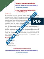 Autonomous Power Management for Interlinked AC-DC Microgrids