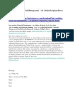Intermediate Financial Management 11th Edition Brigham Daves Test Bank