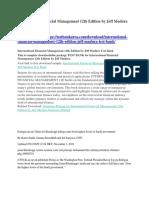 International Financial Management 12th Edition by Jeff Madura Test Bank