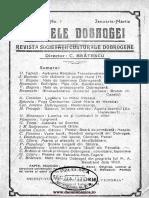 Analele Dobrogei, no. 1, anul II,  1921( Ian, Mart)
