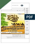 Awal Muharam 2018