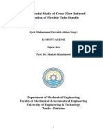 Experimental Study of Cross Flow Induced Vibration of Flexible Tube Bundle by Syed Farrukh Abbas Naqvi