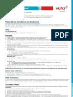 Transit International Insurance Policy Wording