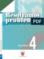 Resolvemos Problemas 4 Cuaderno de Trabajo de Matematica