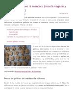 Galletas Sin Huevo Ni Manteca (Receta Vegana y Baja en Calorías) - APerderPeso.com