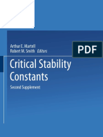 Critical Stability Constants