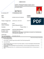 Kartu Pendaftaran Sscn 2018