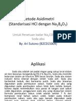 Penetuan Kadar Na2 Co3 Dalam Soda Abu Asidimetri