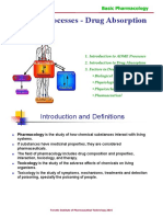 ADME Processes - Drug Absorption