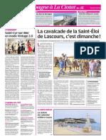 La cavalcade de la Saint-Eloi de Lascours, c'est dimanche ! (22/08/18)