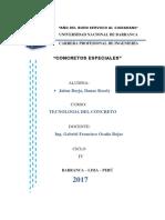 Monografía de Concreto Especiales