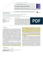 Extraction Kinetics and ANN Simulation of Supercritical Fluid Extraction of Sage Herbal Dust