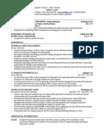 GWU Resume Template