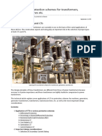 Applying CTs in Protection Schemes for Transformers, Generators, Machines Etc