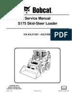 BOBCAT S175 SKID STEER LOADER Service Repair Manual SN A3L511001-A3L519999.pdf