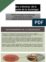 Métodos y Técnicas de La Investigación de La Sociología