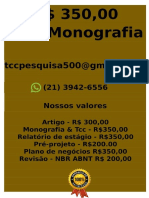 Meu Preço R$ 349,99 POR qualquer  TCC OU MONOGRAFIA WHATSAPP (21)974111465    (89)-- (cópia).pdf