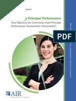 Measuring Principal Performance