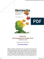 Dementia - Anthroposophical Perceptives
