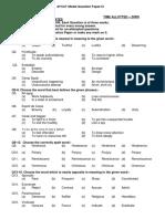 AFCAT Model Question Paper-IV