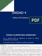 Aditivos Unidad 4