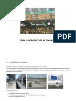Tema 1. El Transporte Como Actividad y Servicio Básico