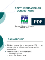Role of Empanelled Consultants