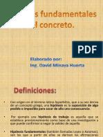 Concreto Clases Hipotesis