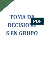 Toma de Decisiones en Grupos