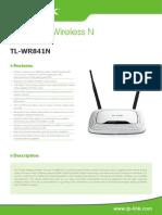 TL-WR841N V8 Datasheet