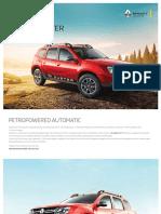 Renault Duster 1.5 Petrol Rxe Brochure