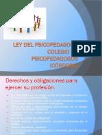Politicas Educativas - Exposicion Ley Del Psicopedagogo