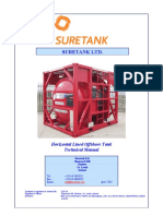 Technical Manual - 2000 USG Horizontal Lined Acid Tank