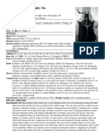 Dark Knight, The (12th-Level Human Masked Vigilante) - Traits, Vigilante Variant