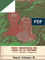 16. Voces Geográficas Del Chocó en La Historia y en La Toponimia Americana