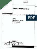 AA-JG79B-TE DSV11 Synchronous Device Driver Manual