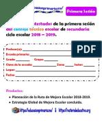 Productos1eraSesionCTE18-19SecundariaMEEP