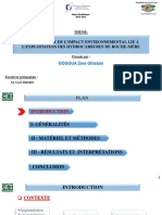 Etat des lieux de l'impact environnemental lié à l'exploitation des hydrocarbures de roche-mère