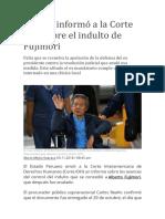 El Perú informó a la Corte IDH sobre el indulto de Fujimori